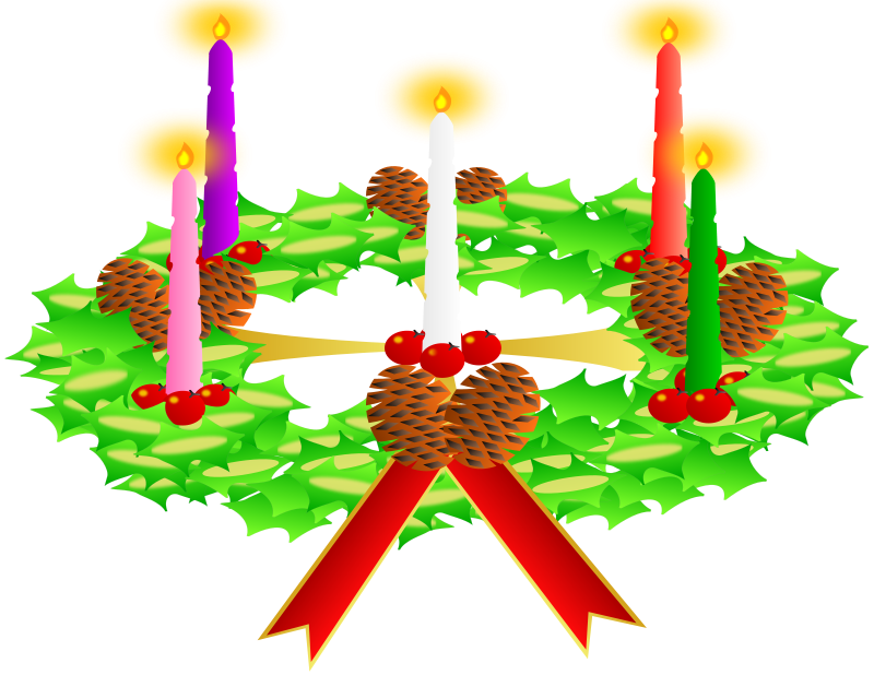 free vector Advent wreath. Advent crown