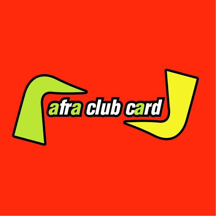 free vector Afra club card true