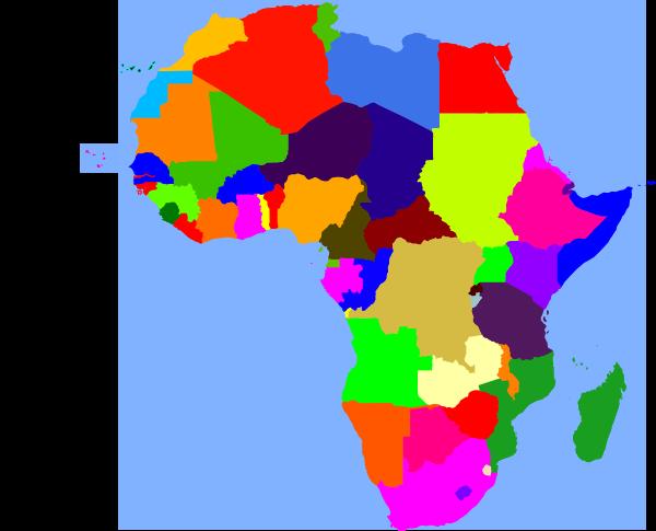 free vector Africa clip art