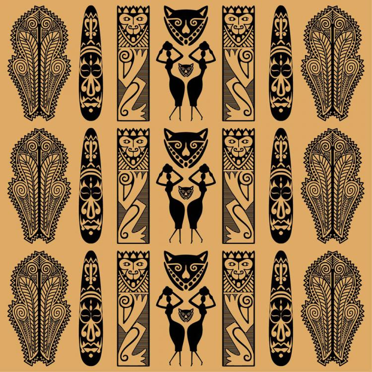 ethnic background Attractive colored ethnic background design emphasizing circles and curves.