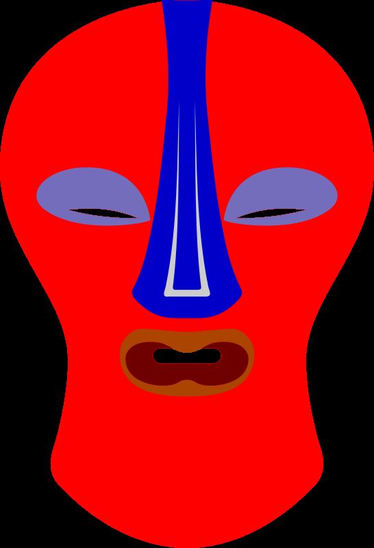 free vector African Mask. Baluba, Zaire