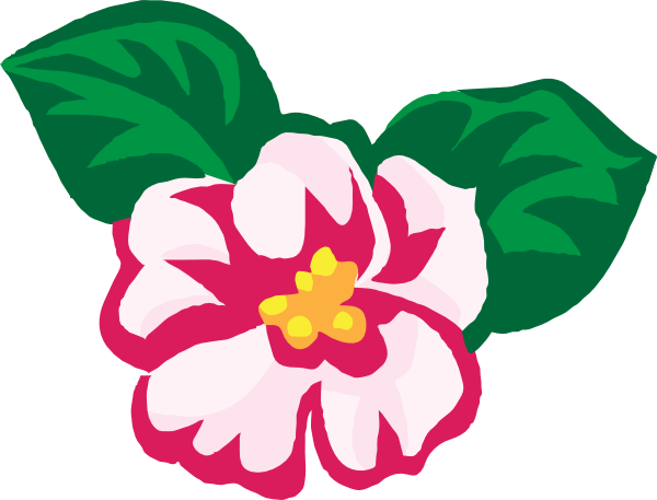 free vector African Violets clip art