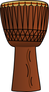 free vector Africandrum3 clip art