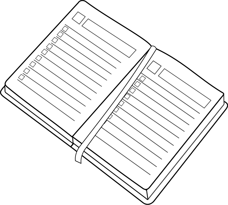 free vector Agenda / planner