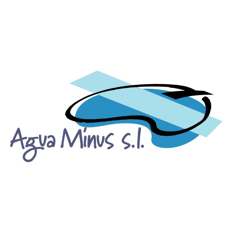 free vector Agua minus
