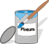 free vector Aidiagre Paint Tin Can And Brush clip art