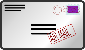 free vector Air Mail Envelope clip art