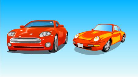 free vector Aircraft and cars vector