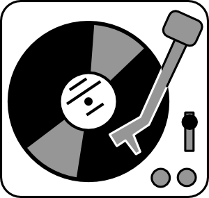 free vector Aj Simple Turntable clip art