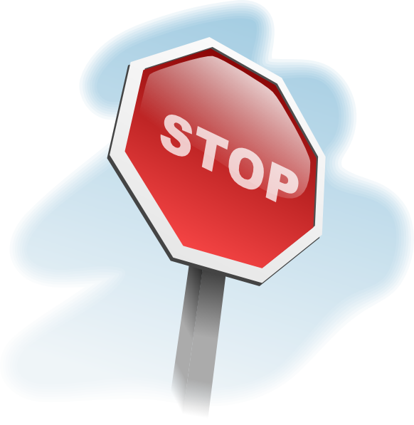 free vector Aj Stop Sign Angled clip art