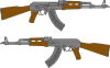 free vector Ak Rifle Vector Drawing clip art