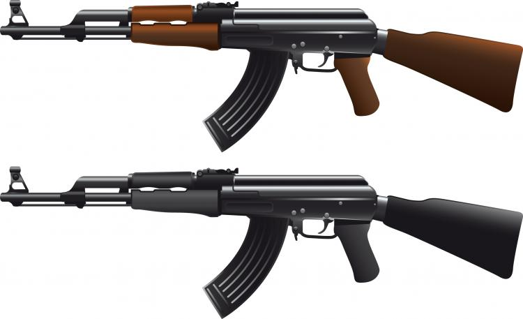 free vector Ak47 machine gun vector