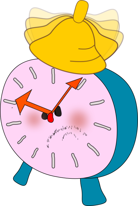 free vector Alarm clock is  angry