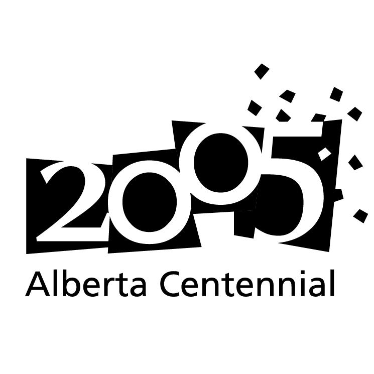 free vector Alberta centennial 2005