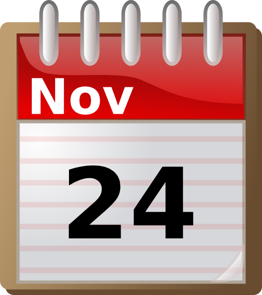 free vector Alcaline Spiral Calendar clip art