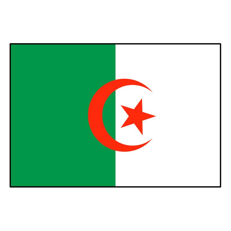 Algerie drapeau Free Vector / 4Vector