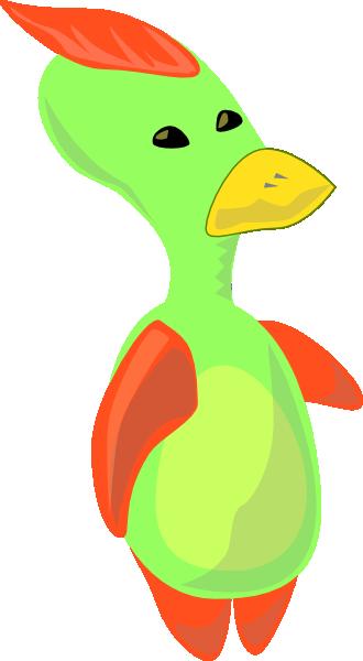free vector Alien Duck clip art