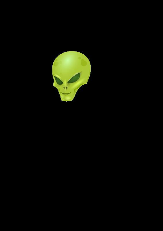 free vector Alien Head