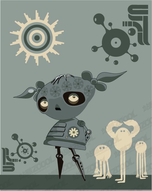 free vector Alien illustration of an alternative