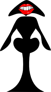 free vector Alien Woman clip art