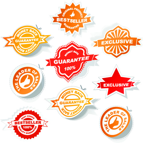 free vector All kinds of badge labels 03 vector