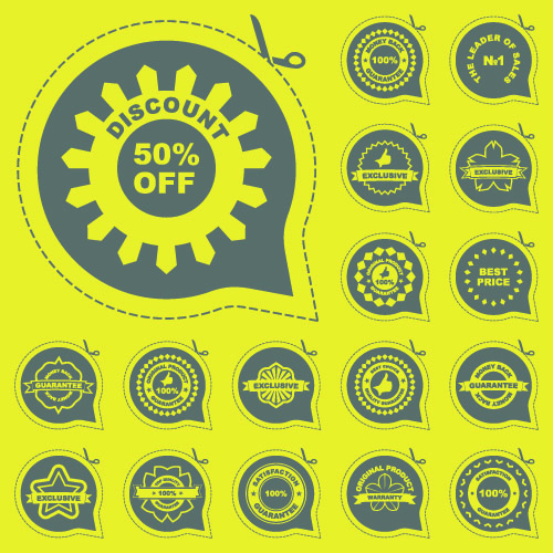 free vector All kinds of badge labels 05 vector