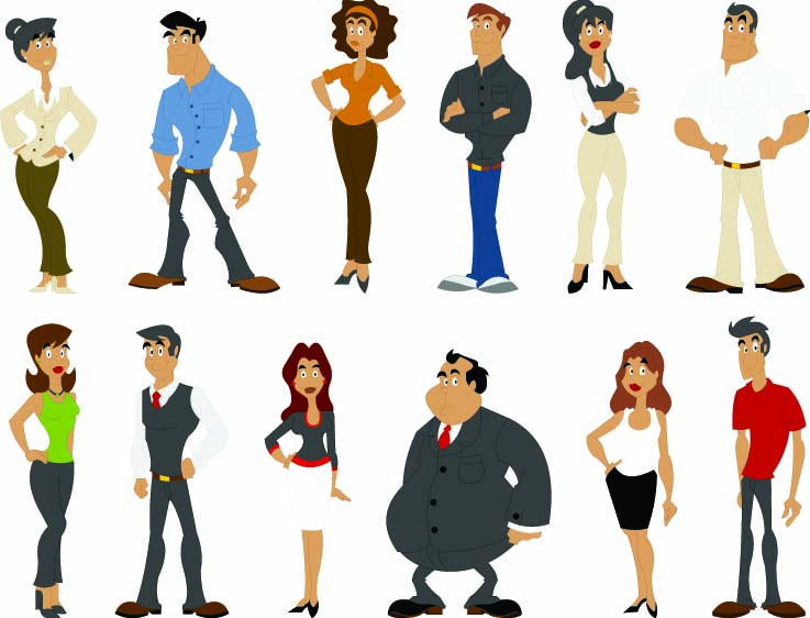 Force Character Design From Life Drawing Download : All kinds of cartoon characters vector free