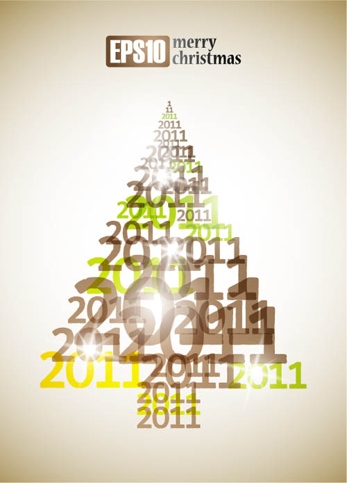 free vector All kinds of christmas tree vector