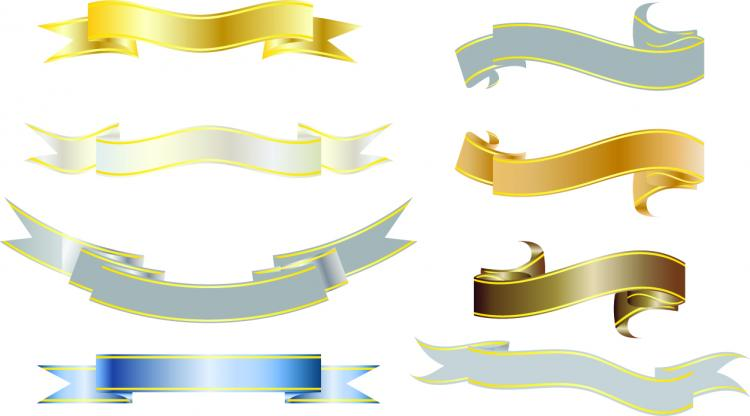 free vector All kinds of ribbons 01 vector