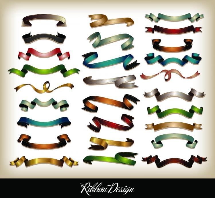 all kinds of ribbons 04 vector free vector 4vector rh 4vector com all vector graphic types all vector file types
