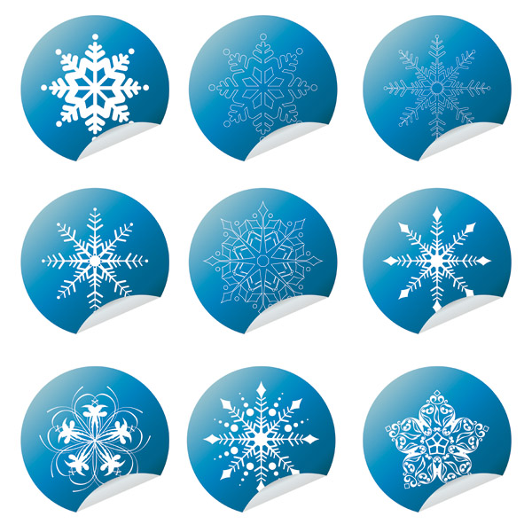 free vector All kinds of snow and wrap angle icon vector