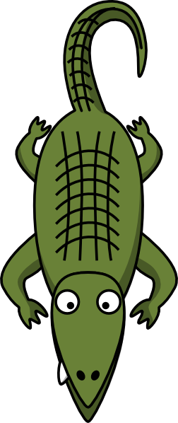 free vector Alligator  clip art