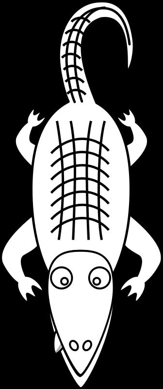 free vector Alligator Line Art