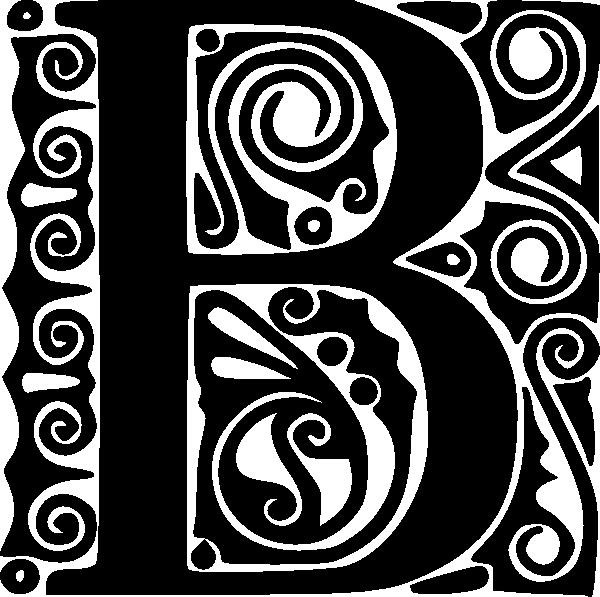 free vector Alphabet B clip art