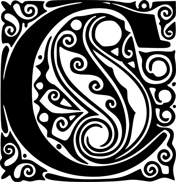 free vector Alphabet C clip art