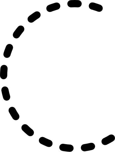 free vector Alphabet Tracing Letter C clip art