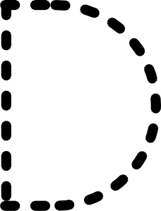 free vector Alphabet Tracing Letter D clip art