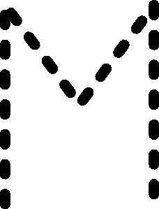 free vector Alphabet Tracing Letter M clip art