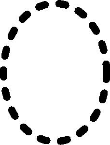 free vector Alphabet Tracing Letter O clip art