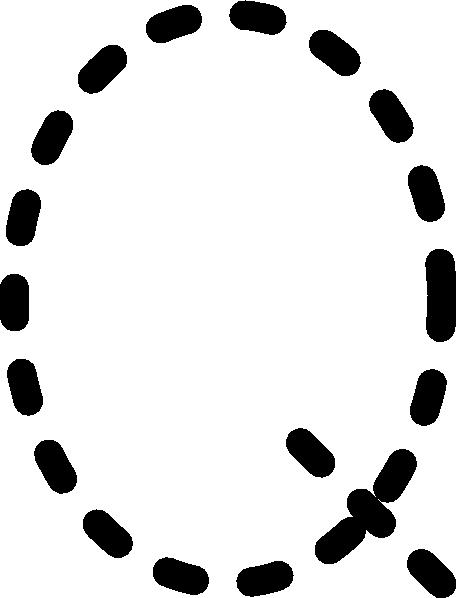 Alphabet Tracing Letter Q clip art Free Vector / 4Vector