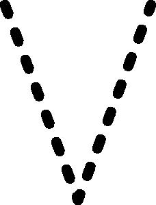 free vector Alphabet Tracing Letter V clip art
