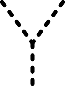 free vector Alphabet Tracing Letter Y clip art