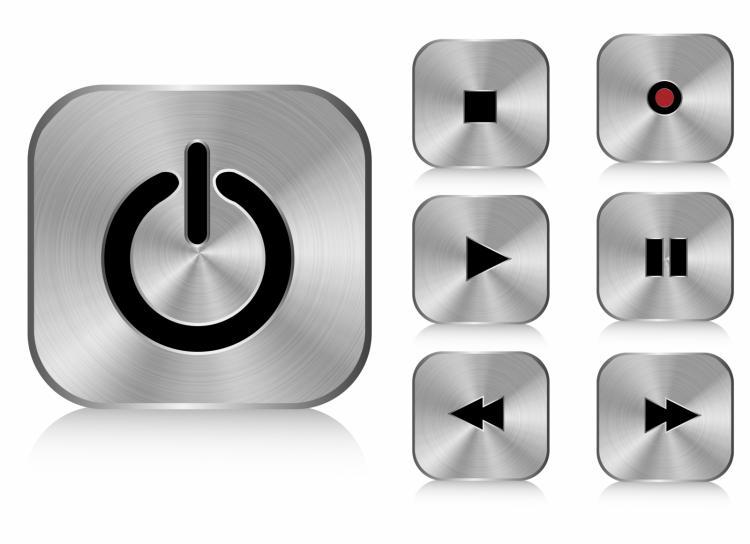 free vector Aluminium buttons (square)