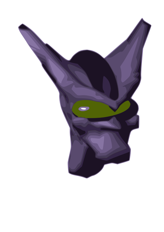 free vector AM Alien Head 2