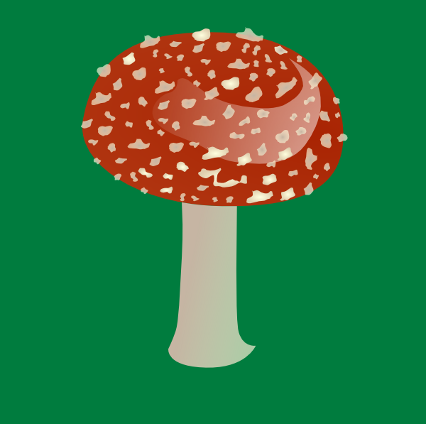 free vector Amanita Toxic Mushroom clip art