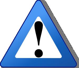 free vector Ambox Warning Blue clip art