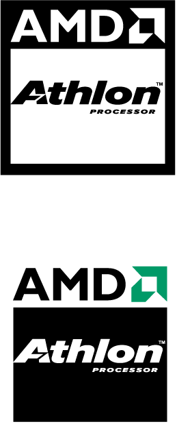 free vector AMD Athlon processor logo