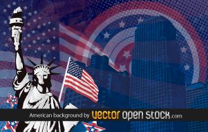 free vector American background