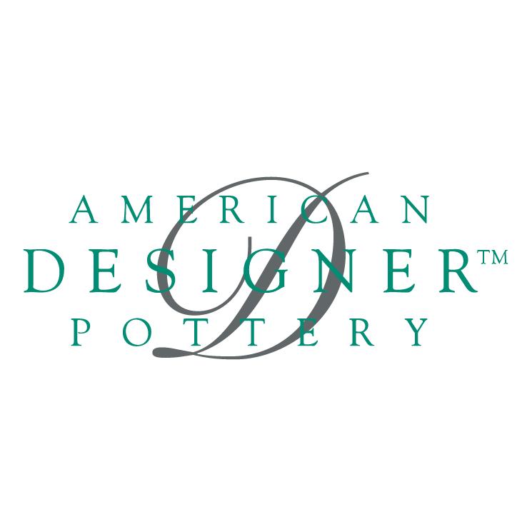 free vector American designer pottery