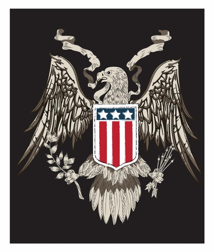 free vector American eagle linework vector